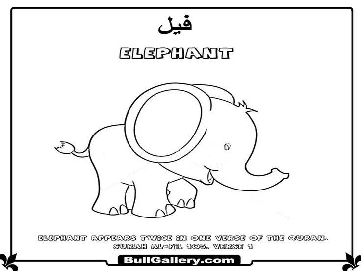 ElephantIslamicAnimalKidsColoringPagesjpg 1024 768