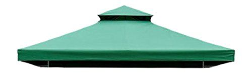 Homcom Garden Gazebo Replacement Canopy Shade for Metal Gazebo Party Tent Garden Tent, Green