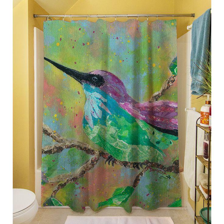 Thumbprintz Hummingbird Shower Curtain - Overstock Shopping - Great Deals on Shower Curtains