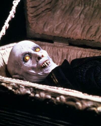 Salem's Lot. Scared the hell out of me as a kid!  Was way to scary to had been shown in the late seventies on network television but it was shown and freaked me out.