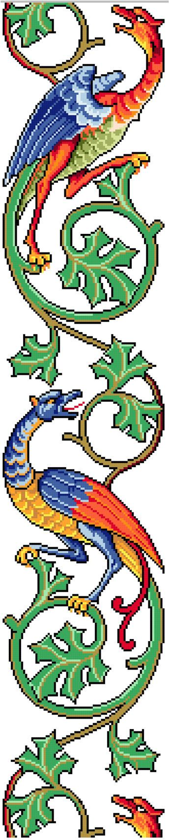 Celtic Cross Stitch | Celtic dragons - Cross stitch pattern . Instant download