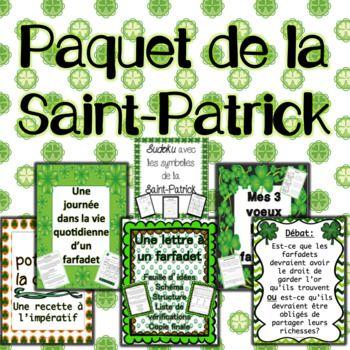 Paquet: La Saint-Patrick  6 Activités amusantes à faire avec la classe.