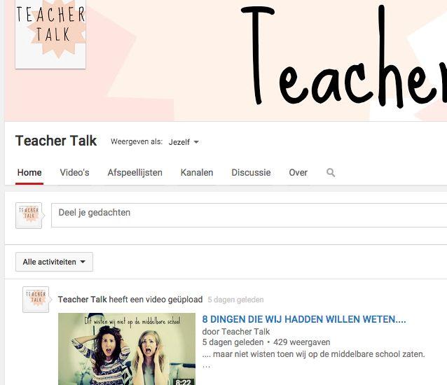TeacherTalk - Het leukste Youtubekanaal voor middelbare scholieren #middelbare #school #leerling #educatie @leren