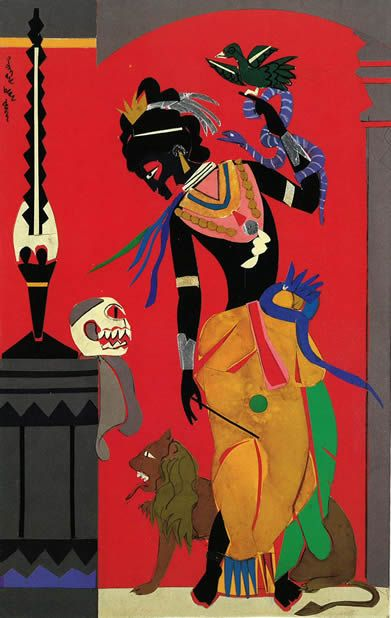 "Romare Bearden, Circe  now touring as part of ""A Black Odyssey"""