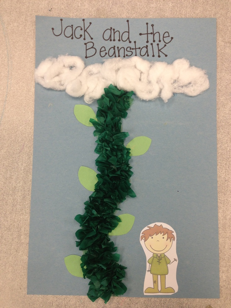 Crafts for kindergarten, Jack and the beanstalk and Kindergarten on ...