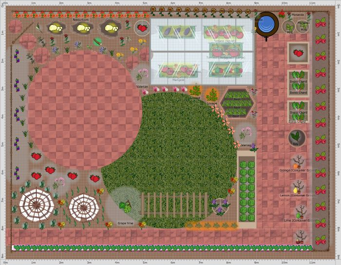 A Patio Plan Showing A Few Of The New Containers Available With The Online  Garden Planner