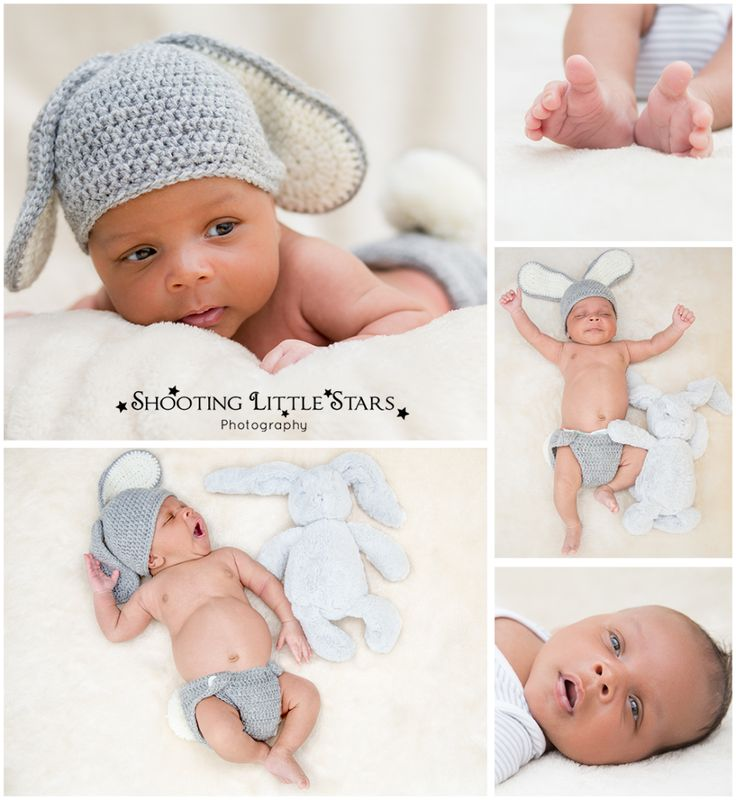 Newborn Photography in Surrey with bunny baby props.