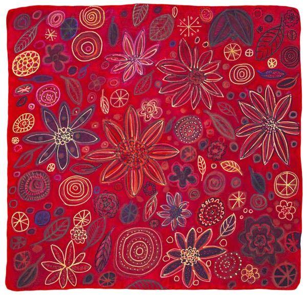 Textile Ideen: Malen auf Seide ohne Rahmen - ganz entspannt...