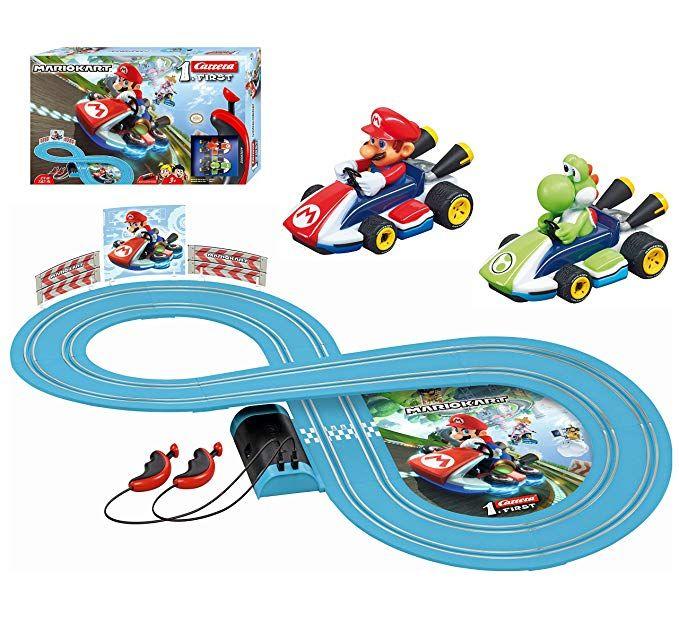 Carrera First Nintendo Mario Kart Slot Car Race Track Includes 2 Cars Mario And Yoshi And Two Contro Slot Car Race Track Nintendo Mario Kart Slot Car Racing