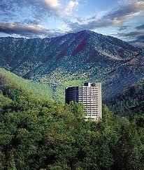 Park Vista in Gatlinburg, TN, it's a round hotel that sits up on the side of a mountain, and it's my favorite hotel in Gatlinburg.
