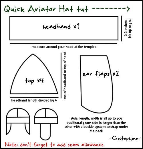 Quick Aviator hat tutorial