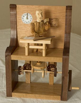 Woodworking automata by Stuart Chalmers. I love automata.... gotta get busy and make my own!!!!