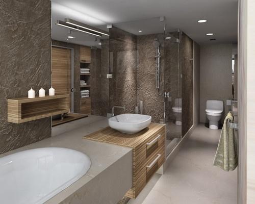 31 best cabinets zebra wood images on pinterest bath vanities bathroom and bathrooms Modern bathroom north hollywood