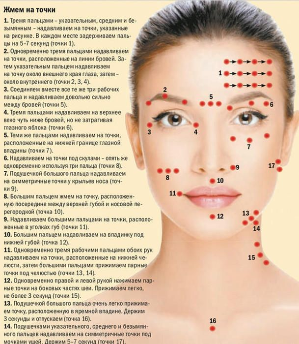 Как делать точечный массаж лица для омоложения - Perchinka63