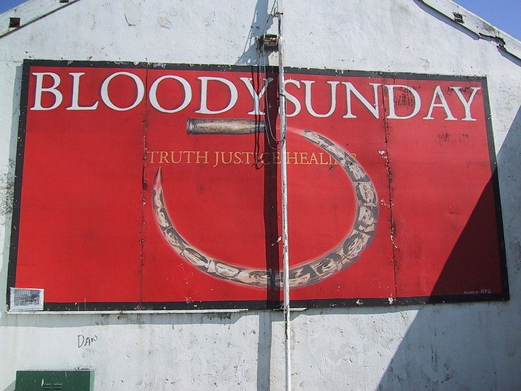 Derry mural . This day in History: Jan 30, 1972: Bloody Sunday in Northern Ireland http://dingeengoete.blogspot.com/