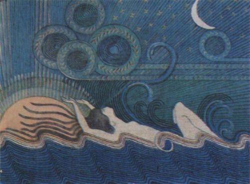 tenebrum:    Joseph Alanen (1885-1920), Ilmatar (La figlia dell'aria) 1913/1916.