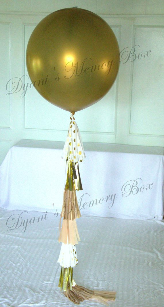 GOLD Baby Gender Reveal Balloon / 36 Confetti by DyanisMemoryBox