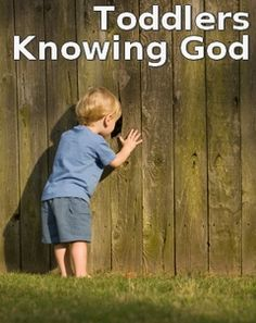 """""""Toddlers Knowing God"""" -lessons to teach 18-24 month children about the character of God, coloring pages and activities too..."""