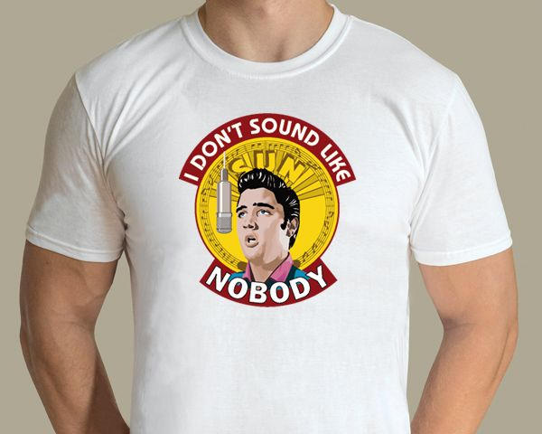 Elvis Presey - I Don't Sound Like Nobody T-shirt. Design by graphic artist Jarod. Available from www.rocknprint.nl