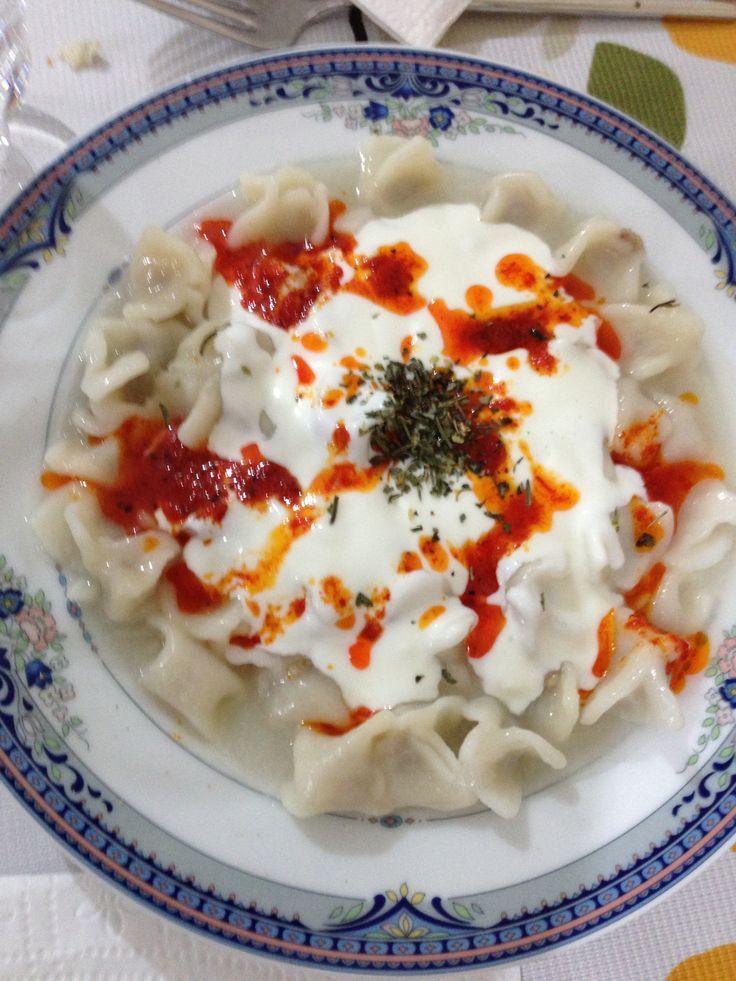 fotoblogturkey: Mantı, (Turkish Ravioli) Turkish cuisine