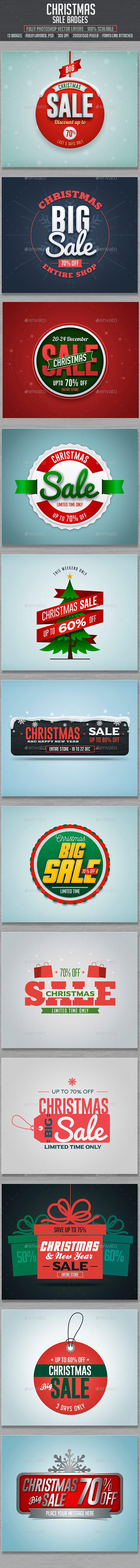 Christmas Sale Badges #design Download: http://graphicriver.net/item/christmas-sale-badges/13883712?ref=ksioks