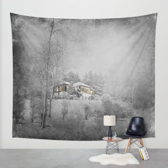 Buy the villa in snowlandscape Wall Tapestry by Tanja Riedel. Worldwide shipping available at Society6.com. Just one of millions of high quality products available.