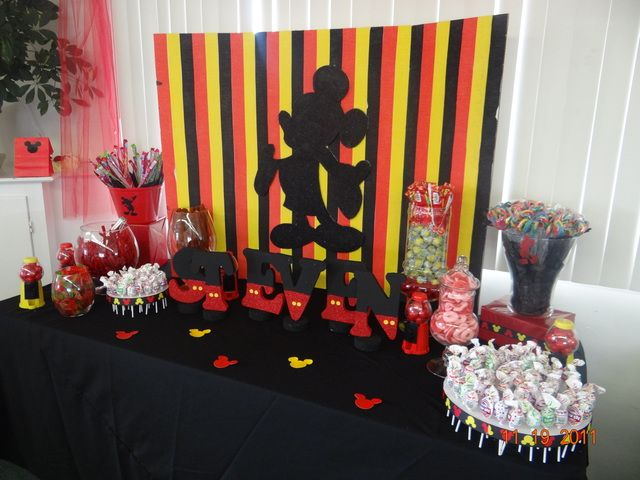 Mickey Mouse Gift Table For Boys Baby Shower Party And Wedding