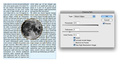 Five Adobe InDesign CS5 Tips in Five Days: Tip 4 - Removing a Light or Dark Background from an Imported Graphic   Peachpit