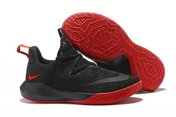 new concept 2c0f2 131b9 Nike Zoom Shift EP Bred Black University Red Mens Basketball Shoes-4