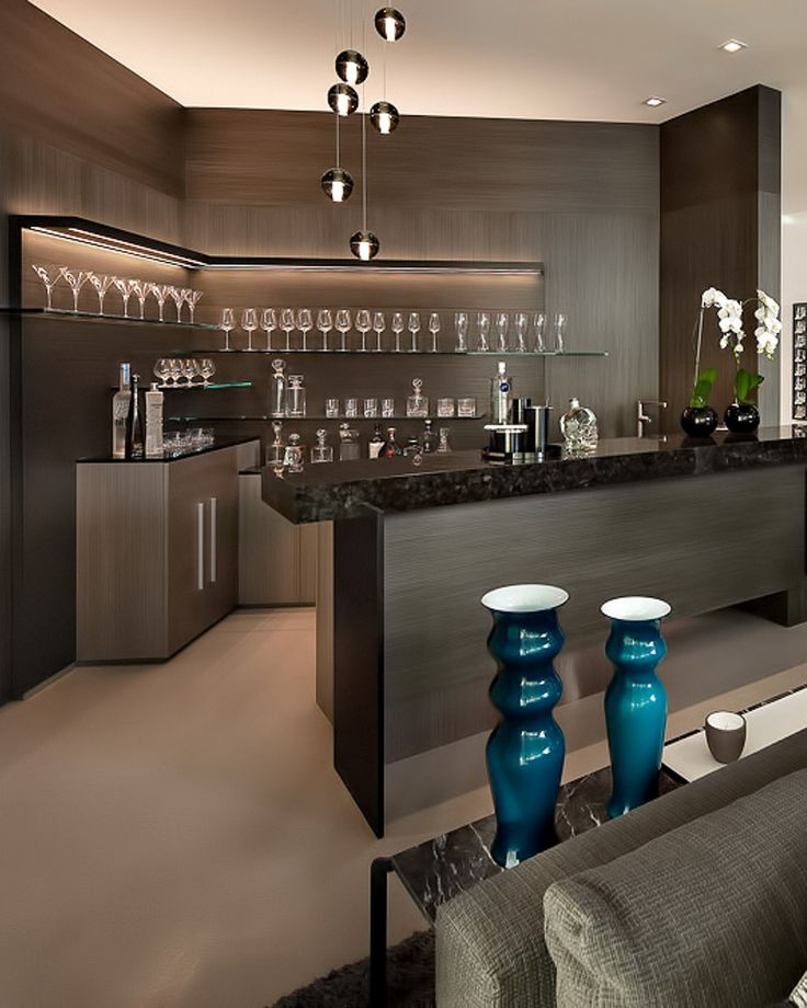 Fresh Modern Home Bar Counter Design