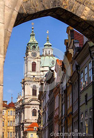 View of the Church of St. Nicholas.Prague, Czech Republic.
