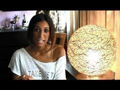 DIY - Cómo Hacer Una Lámpara De Hilo / Make A Wool Lamp - YouTube
