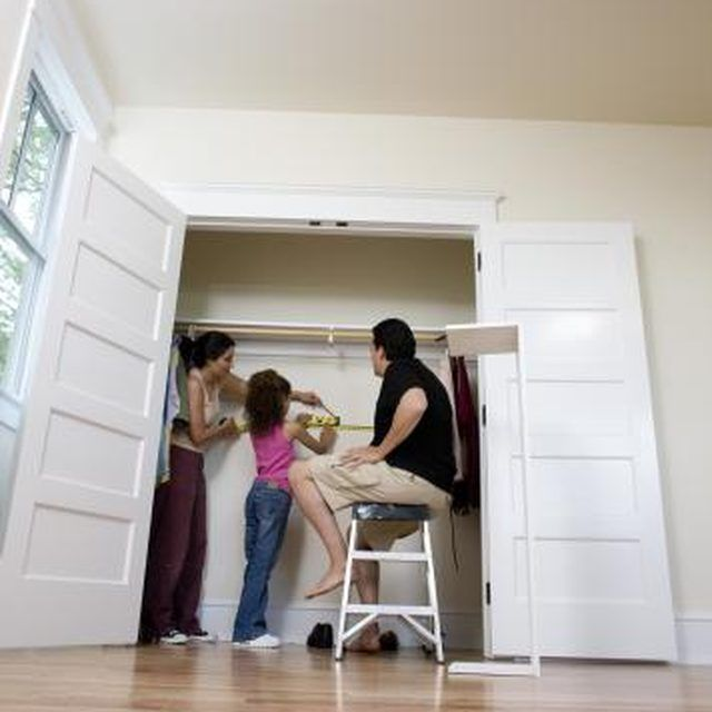 Closet doors can be switched from sliding doors to swinging doors.