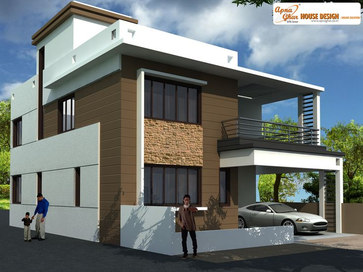 This is a beautiful three bedrooms duplex house design Ground Floor One  bedroom one  17. House Design With Car Parking