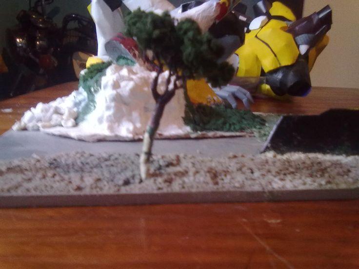 papercraft diorama