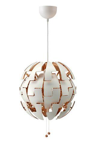 Подвесной светильник, белый, медный, ИКЕА ПС 2014