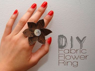 DIY: Fabric Flower Ring | we heart this | we heart this