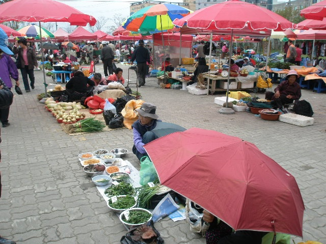 Traditional Market in Ganghwa Island, Korea: In Korea's rural areas, traditional markets open once every five days. People work hard for four days, and then bring their produce or handmade goods to the market for sale or barter on the fifth day. Visiting Ganghwa on one of these market days, which fall on days ending in 2 or 7, is an opportunity to experience the island's produce and food and to understand the local way of life.