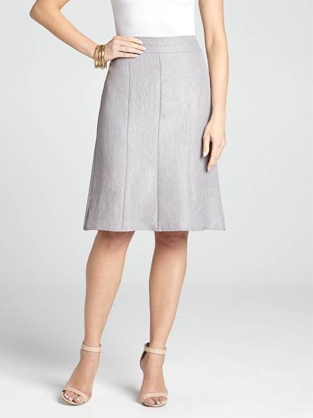 Seam Detail Flared Skirt