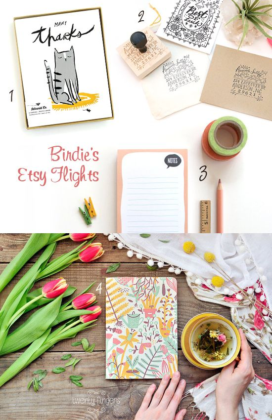 Birdie's Etsy Flights: Stationery Love | Gisele Jaquenod #Gifts #GiftIdeas