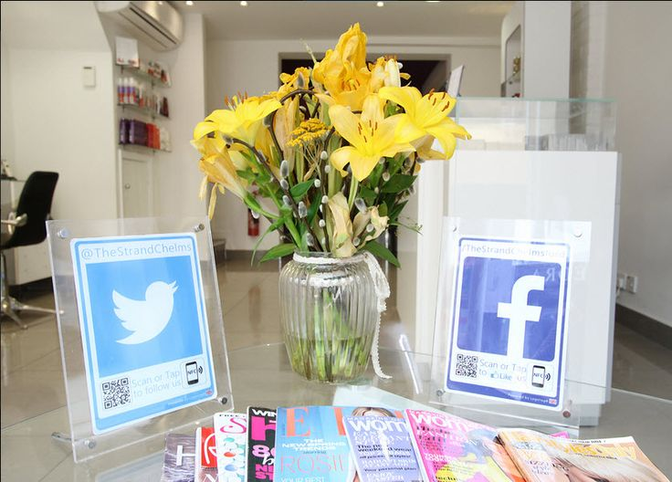 The fantastic team at The Strand in #Chelmsford with a beautiful #socialmedia display helping turn their footfall into folllowers #tyfif #salon #hairdressers #hairsalon #towie