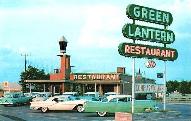 Green Lantern Restaurant, circa 1957  -  click thru for terrific FLICKR site