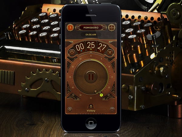 Clear Timer by Patrick Cabral, via Behance