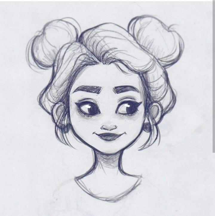 Прикольные рисунки девушки карандашом для срисовки