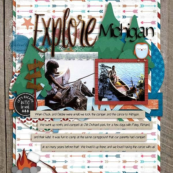 Layout by CTM Deanna using {Outdoor Explore} Digital Scrapbooking Kit by Pixelily Designs http://store.gingerscraps.net/Pixelily-Designs/ #digiscrap #digitalscrapbooking #pixelilydesigns #outdoorexplore