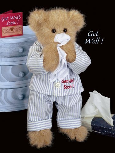 Get well soon with this Bearington Collection bear, Illie Willie teddy bear! Get better with a friend!    http://www.theshoppingbagstore.com/