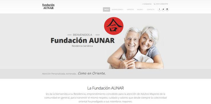Website de para la Residencia Geriatrica de la Fundacion Aunar