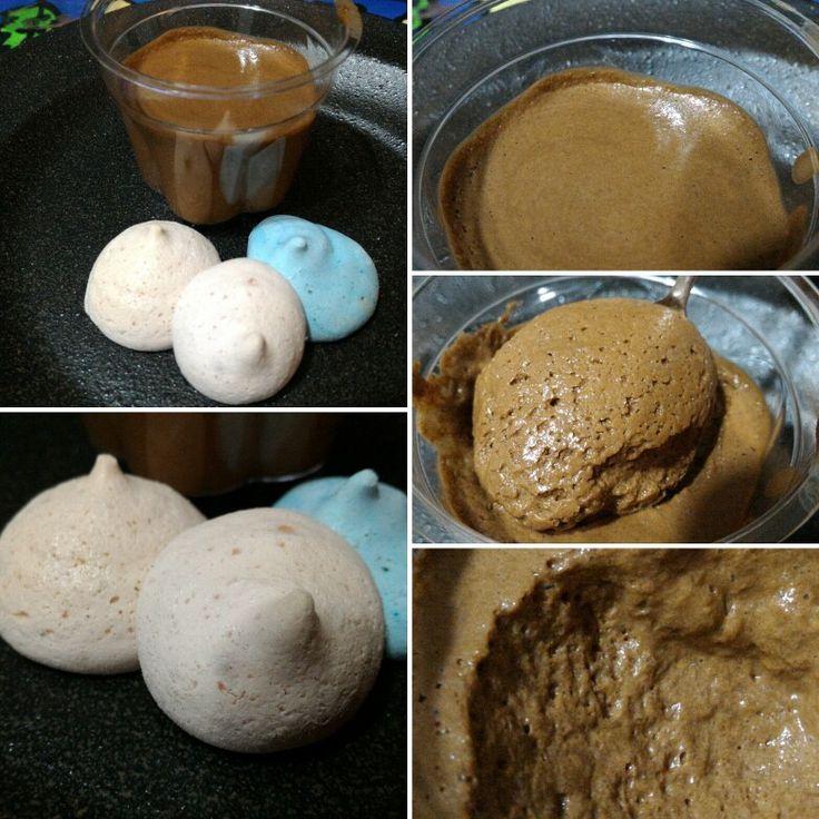 Chocolate mouse and meringue  #aquafaba