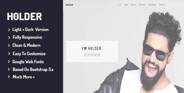 cool Holder - Private Portfolio Template (Portfolio)
