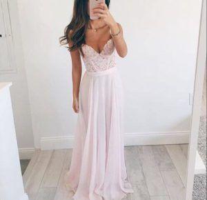 rosa vestidos